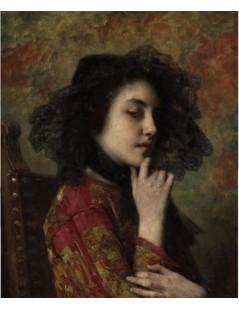 Tytuł: Portrait of a Georgian Princess, Autor: Alexei Harlamoff