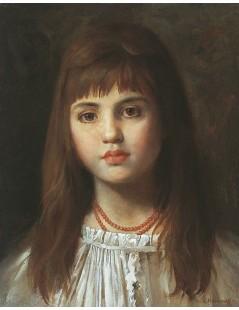 Tytuł: Portrait of a young girl, Autor: Alexei Harlamoff