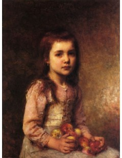 Tytuł: Portrait of a Young Girl with Apples, Autor: Alexei Harlamoff