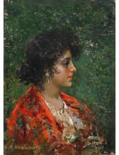 Tytuł: Portrait of a young lady, Autor: Alexei Harlamoff