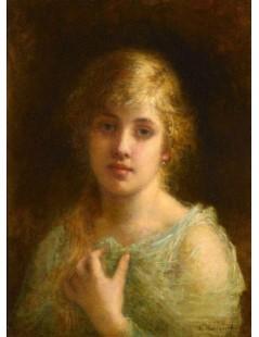 Tytuł: Portrait of Felia Litvinne, Autor: Alexei Harlamoff