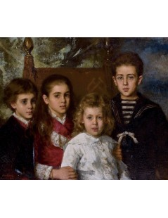 Tytuł: Portrait of the children of Paul Demidoff, Autor: Alexei Harlamoff