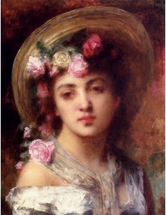 Tytuł: The Flower Girl, Autor: Alexei Harlamoff