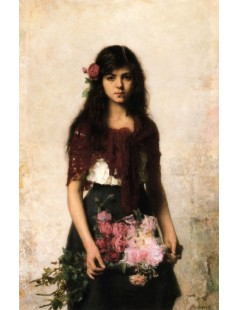 Tytuł: The Flower Seller, Autor: Alexei Harlamoff