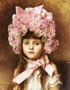 Tytuł: The Pink Bonnet, Autor: Alexei Harlamoff