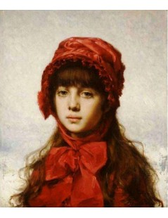 Tytuł: The Red Bonnet, Autor: Alexei Harlamoff