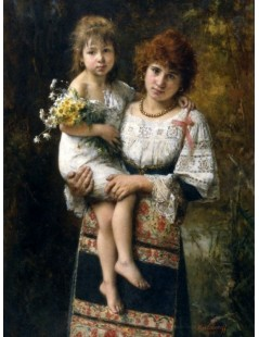 Tytuł: Woman and child, Autor: Alexei Harlamoff