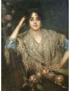 Tytuł: Woman with a Shawl, Autor: Alexei Harlamoff