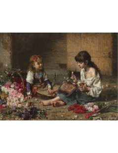 Tytuł: Young Flower Girls, Autor: Alexei Harlamoff
