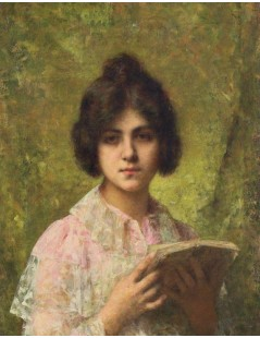 Young Girl Holding a Book