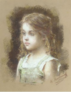 Tytuł: Young Girl In A Green Tunic, Autor: Alexei Harlamoff