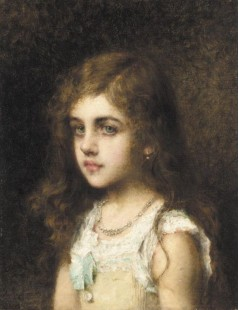 Young Girl With A Turquoise Bow
