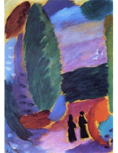 Tytuł: Variation Two Figures in Autumn, Autor: Alexei Jawlensky