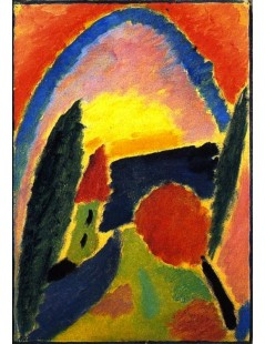 Tytuł: Variation with Church Steeple, Autor: Alexei Jawlensky