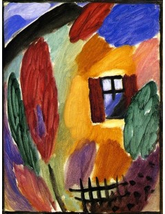 Tytuł: Variation with House and Garden Fence, Autor: Alexei Jawlensky