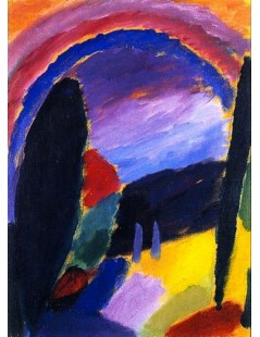 Tytuł: Variation with Rainbow, Autor: Alexei Jawlensky