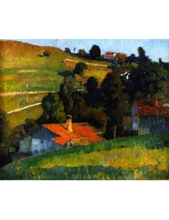 Tytuł: Wasserburg on the Inn, Autor: Alexei Jawlensky