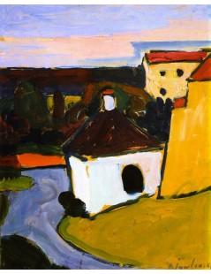 Tytuł: White Chapel in Murnau, Autor: Alexei Jawlensky