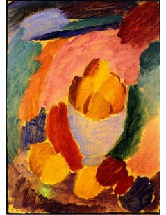 Tytuł: With Bowl and Apples, Autor: Alexei Jawlensky