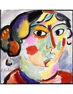 Tytuł: Woman from St. Prex, Autor: Alexei Jawlensky