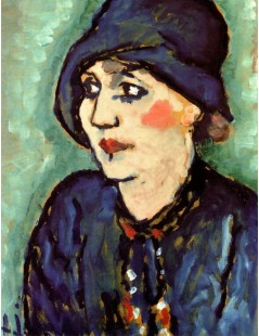 Tytuł: Woman in a Blue Hat, Autor: Alexei Jawlensky
