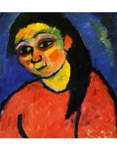 Tytuł: Woman in Red Blouse, Autor: Alexei Jawlensky
