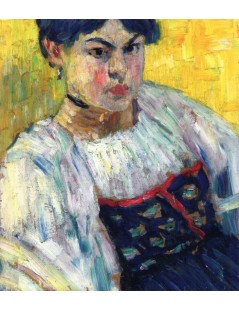 Tytuł: Woman in Traditional Costume, Autor: Alexei Jawlensky
