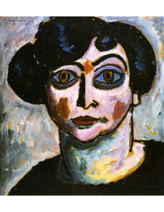 Tytuł: Woman with Black Hair, Autor: Alexei Jawlensky