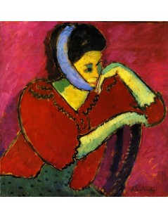Tytuł: Woman with Head Bandage, Autor: Alexei Jawlensky