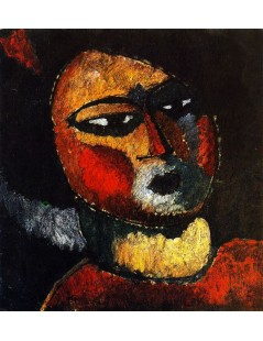 Tytuł: Woman with Red Cheeks, Autor: Alexei Jawlensky