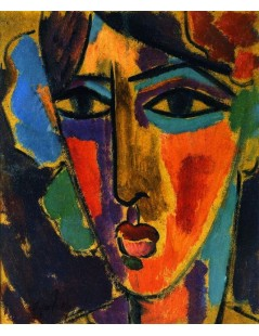 Tytuł: Womans Head, Autor: Alexei Jawlensky