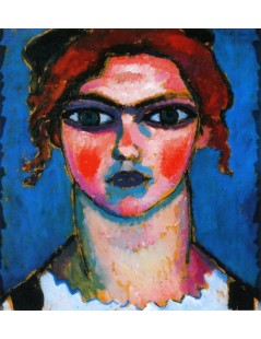 Tytuł: Young Girl with Green Eyes, Autor: Alexei Jawlensky