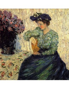 Tytuł: Young Woman with Bunch of Lilac, Autor: Alexei Jawlensky