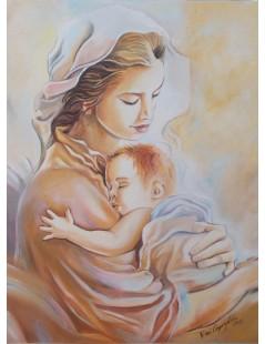Tytuł: Maryja z Dzieciątkiem II, Autor: Emilia Czupryńska