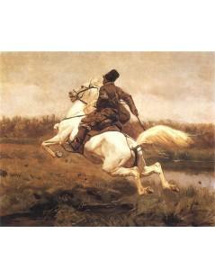 Tytuł: Kozak na koniu, Autor: Józef Chełmoński