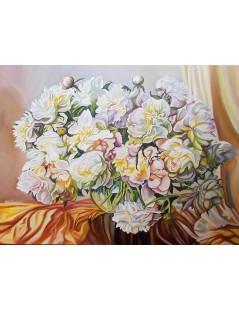 Kwiaty, peonie w wazonie