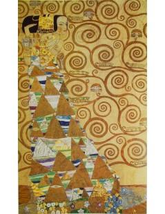 Tytuł: Tryptyk - Drzewo życia 1 - Oczekiwanie, Autor: Gustav Klimt
