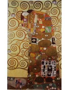 Tytuł: Tryptyk - Drzewo życia 3 - Spełnienie, Autor: Gustav Klimt