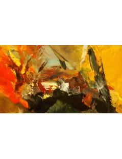 Tytuł: Ogień i lawa abstrakcja, Autor: Emilia Czupryńska
