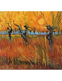 Tytuł: Wierzby o zachodzie słońca, Autor: Vincent van Gogh