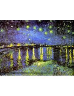 Tytuł: Gwiaździsta noc nad Rodanem, Autor: Vincent van Gogh