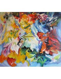 Tytuł: Abstrakcja szczęsliwa, Autor: Emilia Czupryńska