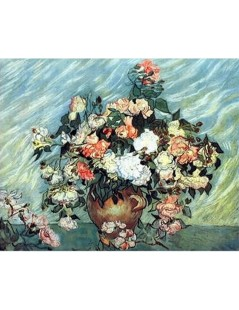 Tytuł: Pink and White Roses, Autor: Claude Monet