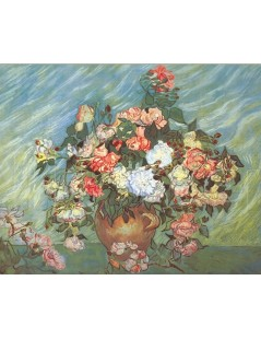 Tytuł: Pink and White Roses, Autor: Vincent van Gogh