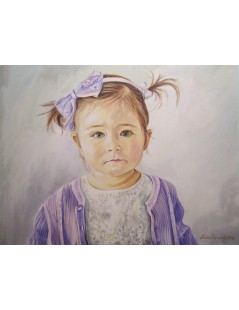 Tytuł: Portret dziewczynki, Autor: Emilia Czupryńska