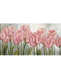 Tytuł: Tulipany łososiowe, Autor: Emilia Czupryńska