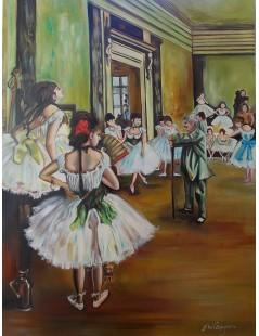 Tytuł: Lekcja tańca, tancerki, Autor: Edgar Degas