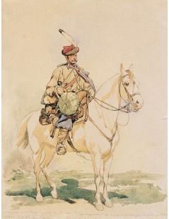 Tytuł: Trębacz 13 pułku ułanów galicyjskich, Autor: Juliusz Kossak