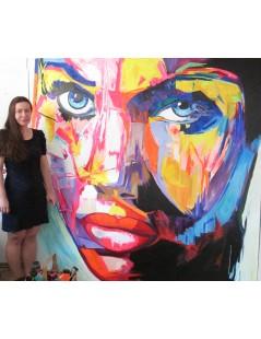 Tytuł: Twarz kobiety akrylowa, Autor: Emilia Czupryńska