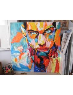 Tytuł: Portret mężczyzny, duży obraz do salonu, Autor: Emilia Czupryńska